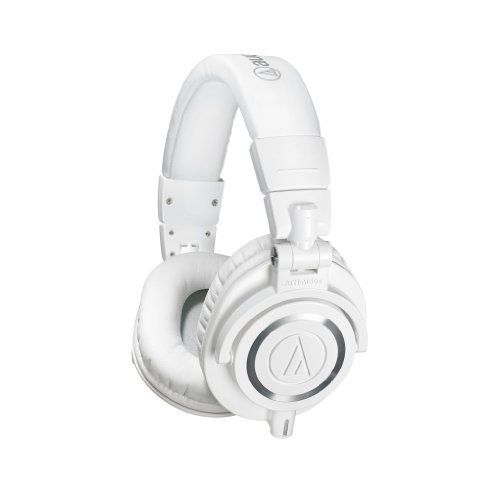 Audio Technica Ath M50 Headphones (Audio-Technica ATH-M50xWH Professional Monitor Headphones, White)