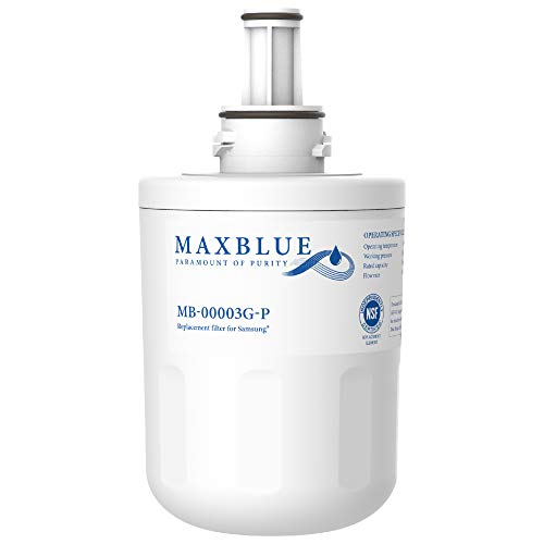 Maxblue NSF 53&42 Certified DA29-00003G Refrigerator Water Filter, Replacement for Samsung DA29-00003B, RSG257AARS, RFG237AARS, HAFCU1, RFG297AARS, WSS-1, WFC2201