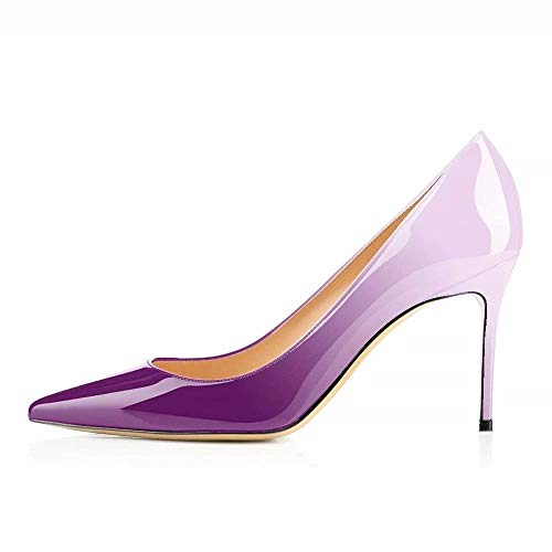 Chris-T Women's Sexy Point Toe High Heels,Patent Leather Pumps,Wedding Dress Shoes,Cute Evening Stilettos ()