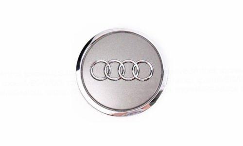 4 un 60mm Plata Aleación Centro De Rueda Tapacubos se ajusta Audi A3 A4 A6 Q7 S6 S4