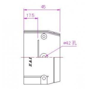 10個セット 配管化粧カバー 端末カバー 77タイプ グレー KTC-75-G_set