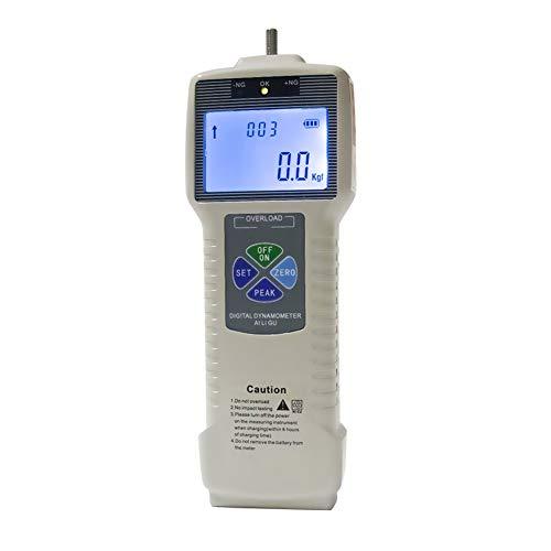 - Force Gauge Digital Push Pull Tester Dynamometer Meter Thrust Tensile Testing Peak/Track Mode Rechargeable Lithium Battery Back-Lit LCD Display kgf/lbf/N 0-1000N
