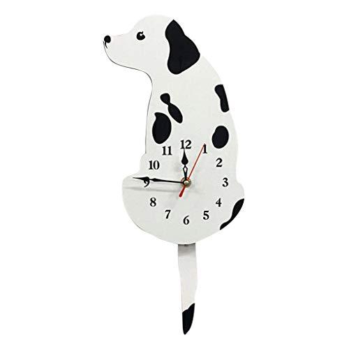 Cartoon Dog Wag Tail Wall Watch Home Kitchen Office School Cute Acrylic Clock Wall Decorations xuanL