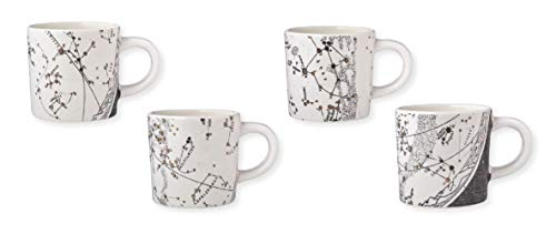 - Magenta Constellations Collection Salt & Earth Porcelain Mugs, Set of 4