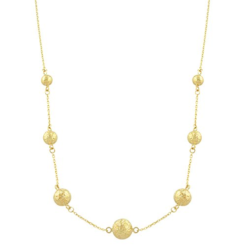 ow Gold Diamond-Cut Ball Station Necklace (18 inch) ()
