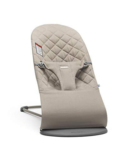 BabyBjorn Bouncer Bliss-Sand Grey, Cotton