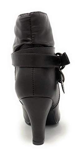 Albert Brown Low Heel Women's Ankle River Booties Charles zt10dBqBwn