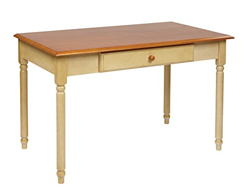 75 Office Star - Office Star Country Cottage Collection Desk in Buttermilk and Cherry Finish