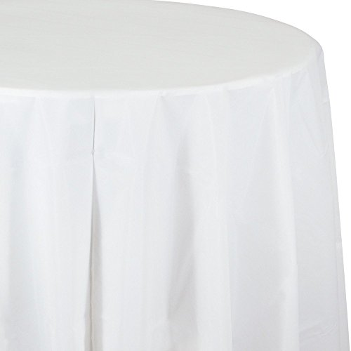 - Creative Converting Tissue Poly Table Covers Octy Round Paper Tablecloth, 3 Ply 82 Inch x 82 Inch for 60 Inch Round Tables - 3 Pack and Quantities (White, 1-3 Pack)