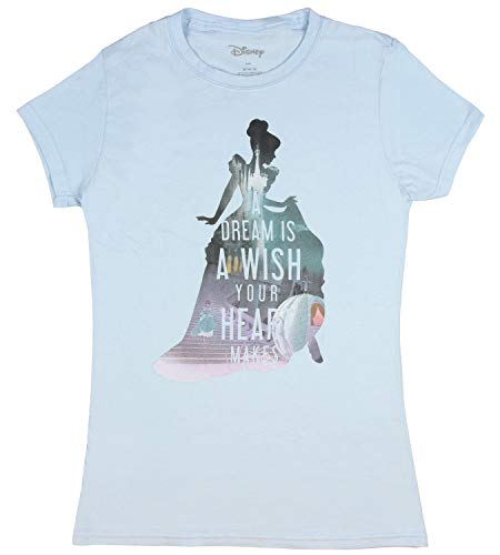 Cinderella Shirt Silhouette Girls T-Shirt (3XL) Light Blue]()