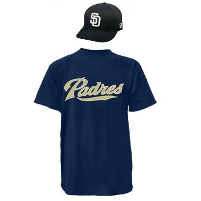 San Diego Padres CAP & ADULT LARGE JERSEY MLB Licensed Replica Combo Set