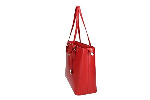 Borsa donna a spalla PIERRE CARDIN rossa in vera pelle MADE IN ITALY VN1079