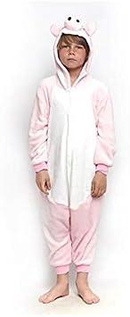 Pijamas Enteros de Animales Niñas y Niños Unisex【Tallas Infantiles 3 a 12 años】 Disfraz Cerdo Mono Enterizo Carnaval Fiestas【Talla 7-9 años】