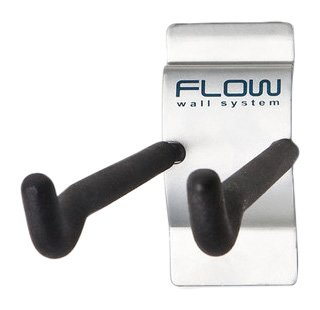 Flow Wall FSH-036-4 8-Inch Hook, Add-On Accessory for Flow Wall System, Silver, -