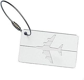 Spaufu etichette per bagagli aluminum personalizzati in valigia etichetta valigia ID borsa regalo Accessorio da viaggio multicolore, confezione da 2 bianco White