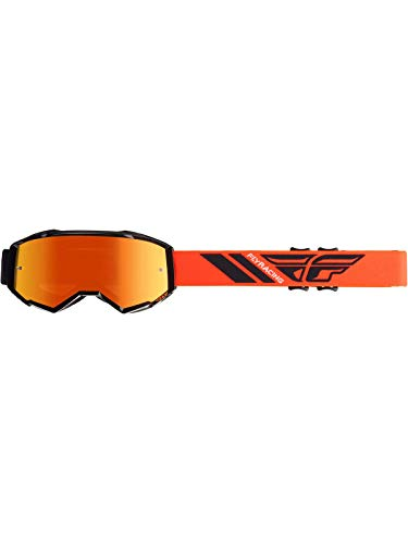 Fly Racing 2019 Zone Goggles (HI-VIZ Orange/Black/Orange Mirror Lens)