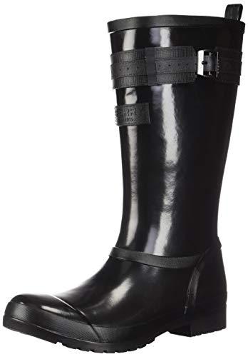 Sperry Women's, Walker Atlantic Rain Boots Black 6 M (6 Womens Sperry Size)