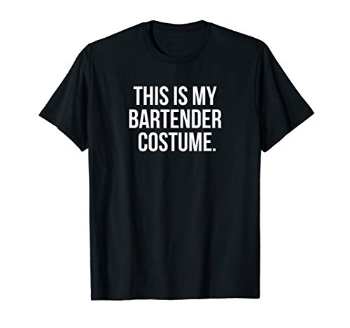 This my Bartender Costume funny halloween tee shirt gift -