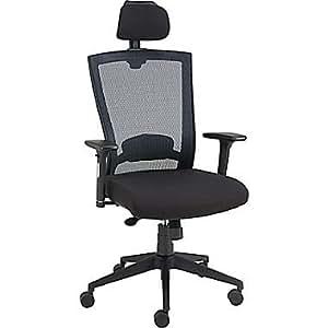 Amazon Com Staples Telfair Black Mesh Chair With Headrest