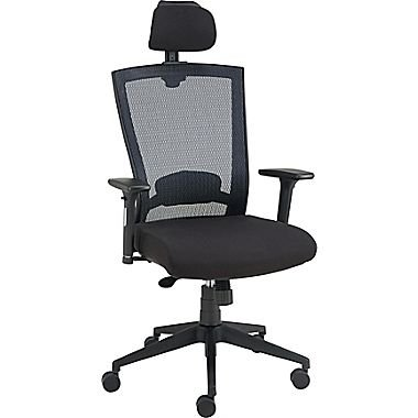Staples Telfair Black Mesh Chair with Headrest by Staples