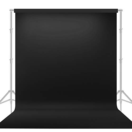 (LimoStudio 10' x 20' Photo Video Studio Seamless Solid Black Muslin Backdrop Photo Studio Background,)