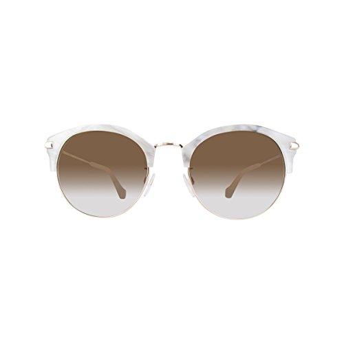 gradient Femme Soleil Lunettes Ba0116k Brown De White other Balenciaga xwfq0tZ