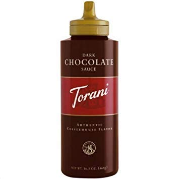 Torani DARK CHOCOLATE Sauce 16.5oz (Pack of 2) ()