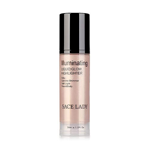 Clearance Sale!UMFunLiquid Glow Highlighter Lip Foundation Makeup Shimmer Cream Facial Bronzer Conto (C)