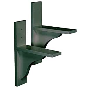 dmc products solid wood window box 1 pair brackets hunter green plant window. Black Bedroom Furniture Sets. Home Design Ideas