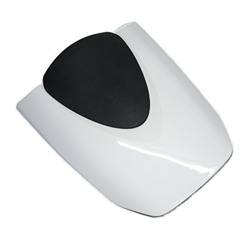 Rear Solo Seat Cover Cowl Passenger Pillion for Honda CBR600RR F5 2007-2012 2008 2009 2010 2011 (White)