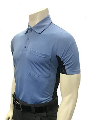 Smitty | BBS-314 | All | Major League Style | Body Flex Vented Umpire Short Sleeve Shirt | Baseball Softball | Elite Official's Choice! (Sky Blue Body w/Vented Black Pantel, Large) ()