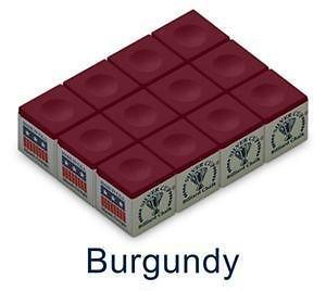 Silver Cup SC-12-BURGUNDY Chalk Dozen Box, Burgundy