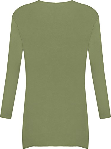 Longue Cardigan tailles 44 Grandes WearAll Hauts Femmes 54 Grande Vert Kaki Haut Tailles Waterfall qEgRSwB