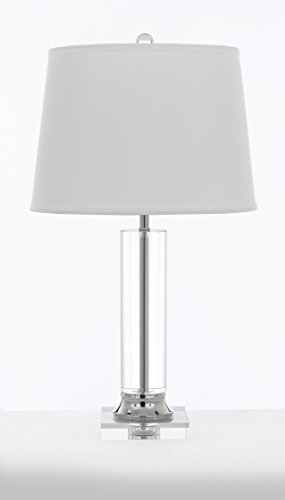 - Crystal Column Table Lamp with Shade Modern Contemporary Lamp