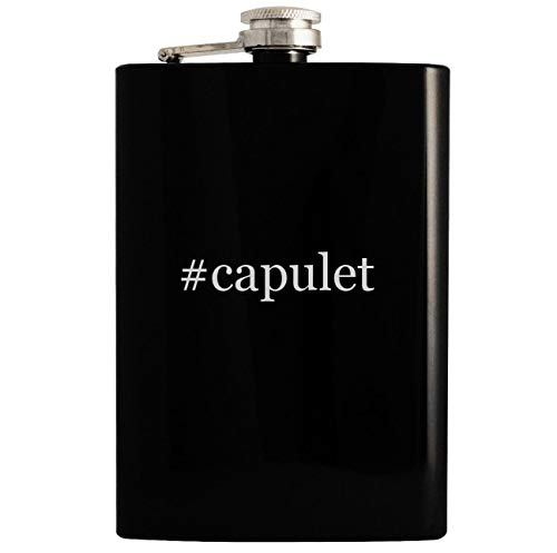 #capulet - 8oz Hashtag Hip Drinking Alcohol Flask, Black