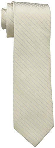 Calvin Klein Men's Etched Windowpane A Tie, Taupe Regular