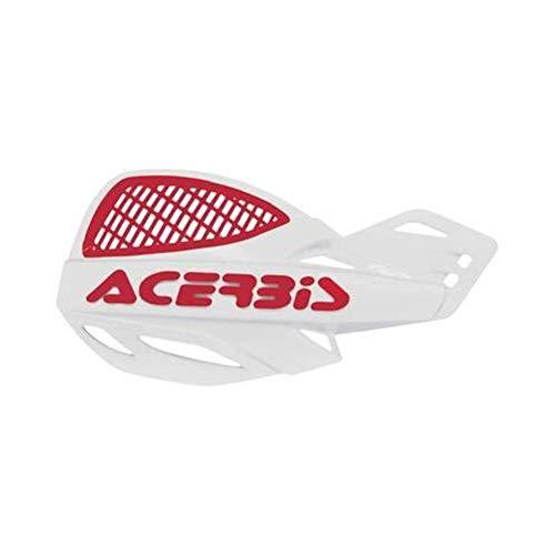 White/Red Acerbis Uniko Vented Handguards - ()