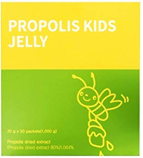 [Dr. MOON] Propolis Kids Jelly(20g x 50 Packets) - Helps Support Kid's Healthy Immune System with Anti-Oxidant Properties, Vitamin C, 16mg of Flavonoid contained, Pear Extract, Lemon Extract