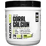 NutraBio 100% Pure Coral Calcium Powder - EcoPure - 500 Grams