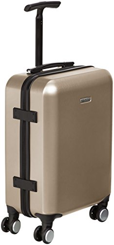 AmazonBasics Metallic Hardshell Carry-On Spinner Luggage Suitcase with TSA Lock - 20 Inch, Gold