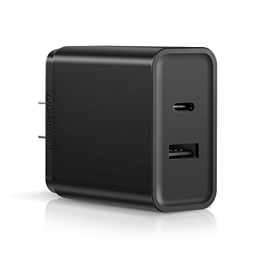 UGREEN Cargador Rápido USB Tipo C 30W con Un Puerto 5V 2.4A y Power Delivery 2.0, Negro