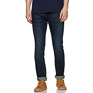Louis Philippe Jeans Mens Slim Fit Whiskered Effect Jeans