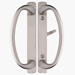 Charlotte Brushed Nickel Sliding Door Handle Set Fits 3 15/16u0026quot; CTC  Screwholes