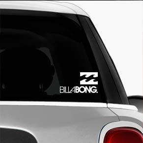 Billabong White SK8/Surf/Snow/Water/Bike/Brands Automotive Decal/Bumper Sticker
