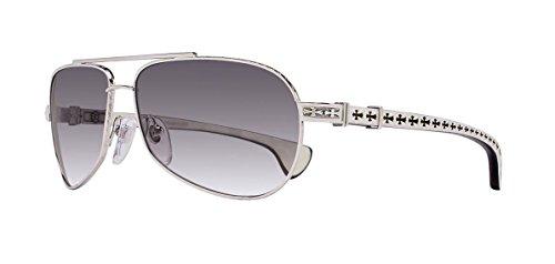 Chrome Hearts - Baby Beast - Sunglasses (Shiny Silver-White Ebony Wood, Smoke - Bans Infant Ray
