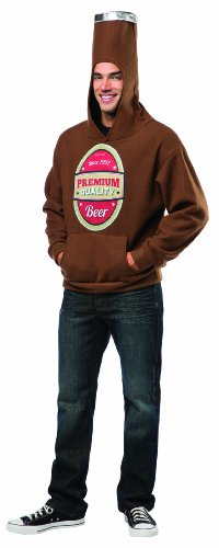 Rasta Imposta Beer Bottle Hoodie, Brown/Multi, Small/Medium ()