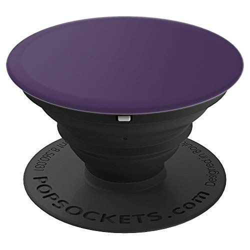 Purple Pop - Dark Purple - Solid Color Series - PopSockets Grip and Stand for Phones and Tablets