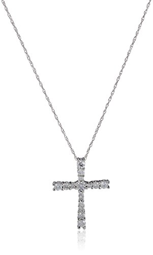 10k-White-Gold-050-cttw-Diamond-Cross-Pendant-Necklace-18