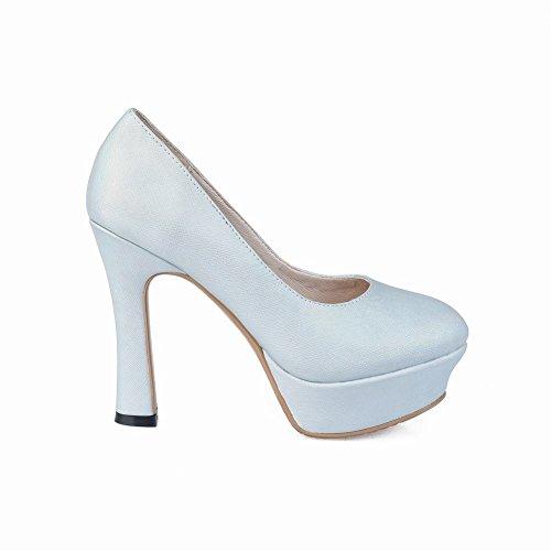 Carolbar Scarpe Da Donna Eleganti Tacchi Alti Scarpe Da Sposa Da Sposa Azzurro