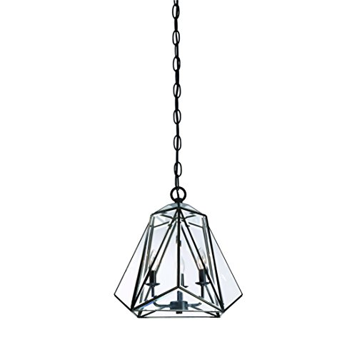 Eurofase Glacier Prism Lantern, Tiffany Glass Shade, Hand Crafted Frame, 3 B10 Light Bulb, 16.75 Inches High-Model 31645-010, - Tiffany Co And Model